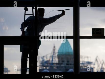 Window cleaner - Stock Photo