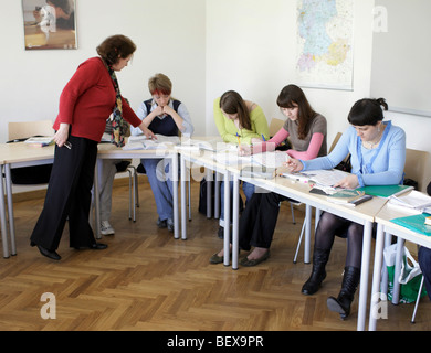 Students learning German at Goethe-Institut - Stock Photo