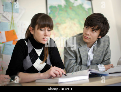 Students learning German at Goethe-Institut . - Stock Photo