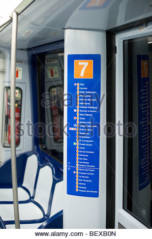 The train to madrid stock photo royalty free image 50888228 alamy - Carrage metro ...
