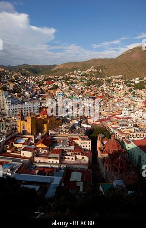 View from El Pipila, Guanajuato, Mexico - Stock Photo