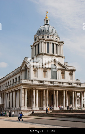 Old Royal Naval College buildings in Greenwich, London UK. - Stock Photo