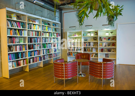 Public lending library inside Kulturhuset the House of Culture in central Stockholm Sweden Europe - Stock Photo