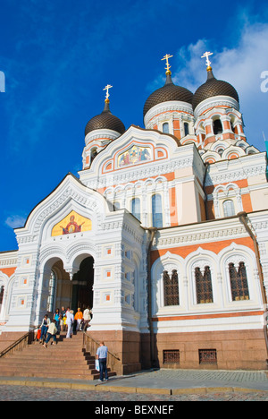 Aleksander Nevski katedraal the Alexander Nevsky cathedral Toompea hill in Tallinn Estonia Europe - Stock Photo