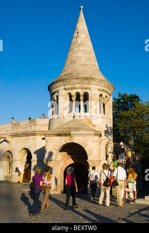 Fishermans Bastion at Castle Hill Budapest Hungary Europe - Stock Photo