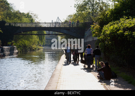 Regents Canal in April 2009 - Stock Photo