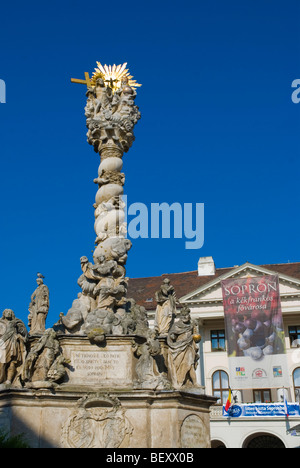 Fö ter the main square in Sopron Hungary Europe - Stock Photo