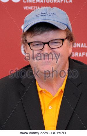 michael moore,  venice 2009, 66th international venice film festival - Stock Photo