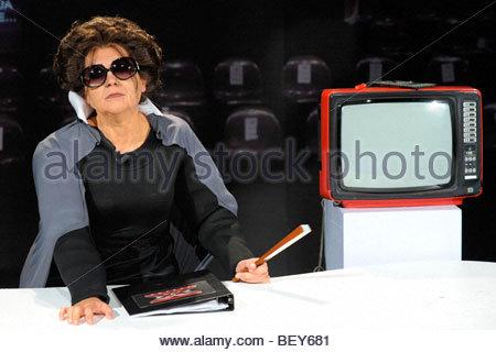 lucia ocone, milan 2009, quelli che il calcio tv programme - Stock Photo