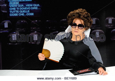 lucia ocone, milan 2009, quelli che il calcio tv programme - Stock Photo