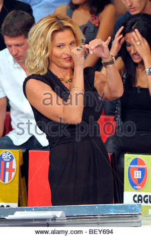 simona ventura, milan 2009, quelli che il calcio tv programme - Stock Photo