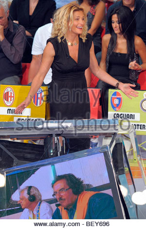 simona ventra, milan 2009, quelli che il calcio tv programme - Stock Photo