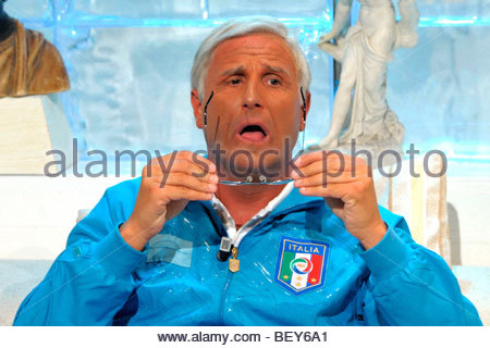 david pratelli, milan 2009, quelli che il calcio tv programme - Stock Photo