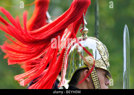 Horse Guards, part of the Household Cavalry, on parade in London, United Kingdom - Stock Photo