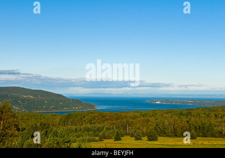 Baie Saint Paul & St Lawrence river Charlevoix region Quebec canada - Stock Photo