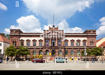 Main post office building in Weimar, Thuringia, Germany, Europe - Stock Photo