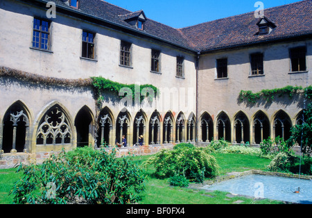 Cross Coat, Cloister, Musee d'Unterlinden, Colmar, Alsace, France - Stock Photo