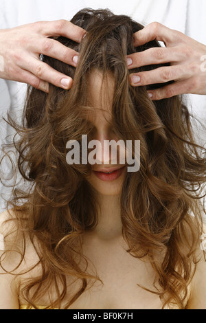 Head Massage - Stock Photo