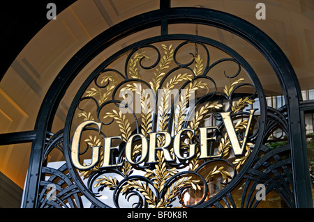 Fashion Paris France French Hotel George V five - Stock Photo