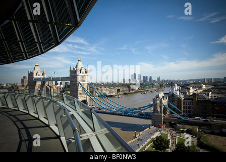 View from London City Hall , London, England. Architect-Sir Norman Foster - Stock Photo