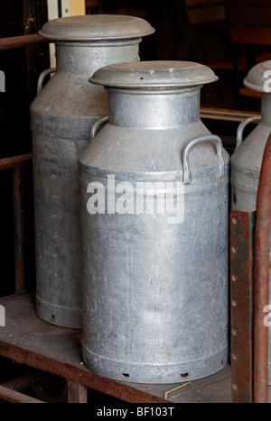 Traditional Milk Churns - Stock Photo