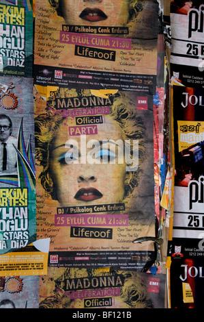 Madonna Istanbul Turkey Rock Concert Music Pop Star - Stock Photo