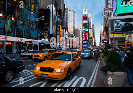 Traffic in Times Square, New York - Stock Photo