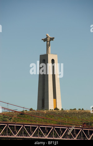 Statue of Christ the King, Lisbon - Stock Photo