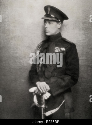 The Prince of Wales later King Edward VIII of England, 1894 to 1972. - Stock Photo