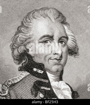 General Sir Henry Clinton, 1730 to 1795. British army officer and politician during the American Revolutionary War. - Stock Photo