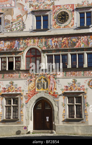 Municipal archive, Lindau, Bavaria, Germany - Stock Photo