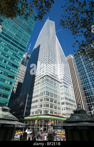 Bank of America Tower, One Bryant Park, LEED green building, second tallest in NYC, completed 2009, Manhattan, New - Stock Photo