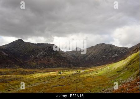 Part of the Twelve Bens mountain range. Connemara. Co Galway. Ireland 2009. - Stock Photo