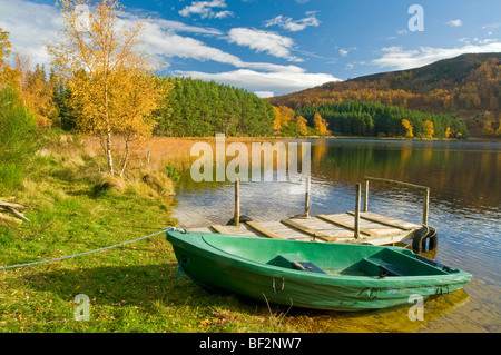 Loch Pityoulish near Aviemore in October Autumn colours Inverness-shire Scottish Highlands   SCO 5476 - Stock Photo