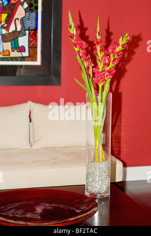 Flower vase on a table - Stock Photo