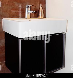 Wash basin in the bathroom - Stock Photo