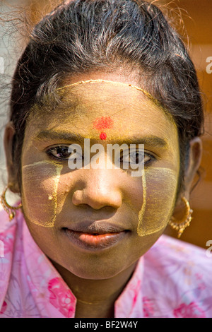 Portrait of a young burmese woman. - Stock Photo