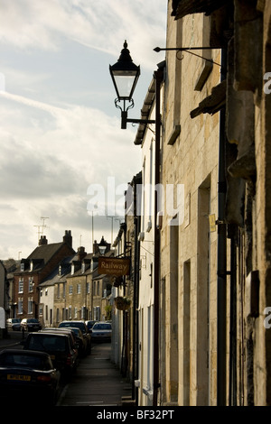 Rows of Buildings at Winchcombe, in the Cotswolds, Gloucestershire, England - Stock Photo
