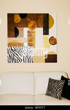 Interiors of a living room - Stock Photo