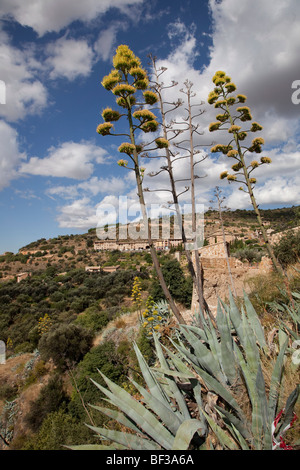 Spain, Alquezar, panorama of the city landscape - Stock Photo
