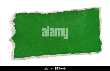 Piece of color paper for memo isolated on white - Stock Photo