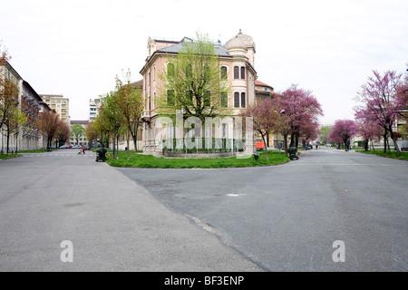 Crossing Crocetta neighbourhood Turin Italy - Stock Photo