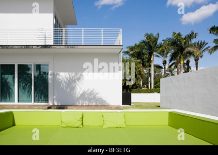 Couch in front of a building - Stock Photo