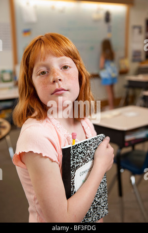 Portrait of elementary school student - Stock Photo