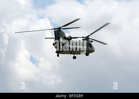 The Chinook is a very capable and versatile support helicopter that can be operated in many diverse environments. - Stock Photo