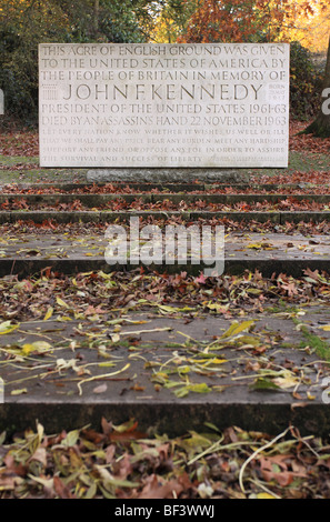 Runnymede Surrey the Kennedy Memorial made of Portland stone dedicated in 1965 to the life of US President John - Stock Photo