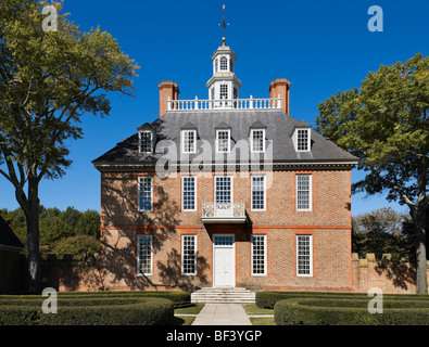 The Governor's Palace, Colonial Williamsburg,Virginia, USA - Stock Photo