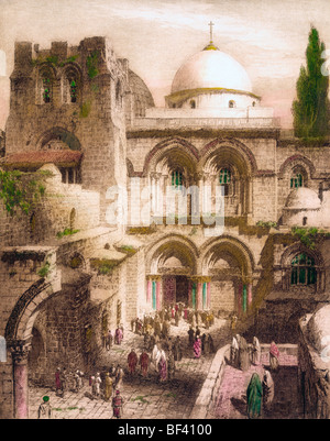 Church of the Holy Sepulchre Jerusalem - Stock Photo
