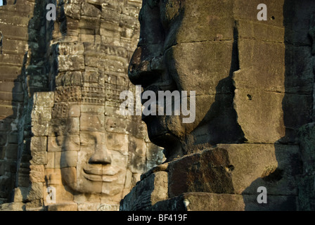 Face to face with Jayavarman VII in afternoon light. The Bayon Temple, Angkor Thom, Angkor Wat Seam Reap Cambodia