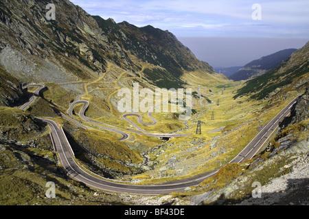 Transfagarasan - road over the mountains - Stock Photo